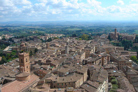 Siena roofs by Taty2007 - Wikimedia Commos