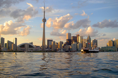 Skyline of Toronto viewed from Harbour   credits Derek Tsang  Kingston Canada
